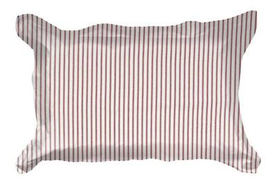 Gorgi Madder Red White with Scarlet Ticking Stripe Oxford Pillowcase