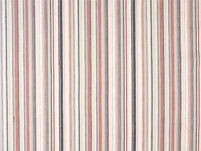 Fabric Swatch Vintage Retro Navy and Red French Stripe Fabric