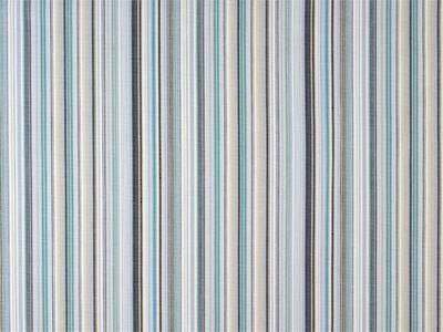 Vintage Retro Turquoise and Navy Stripe Bed Wrap/Valance