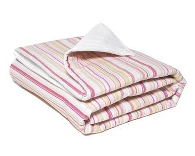 Pink and Lime French Stripe Cot Duvet Cover