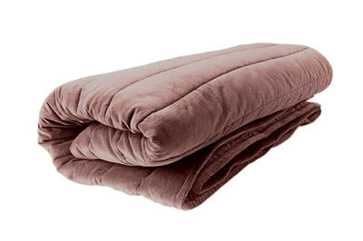 Gorgi Super Soft Velvet Channel Quilted Throw in Blush - King Size