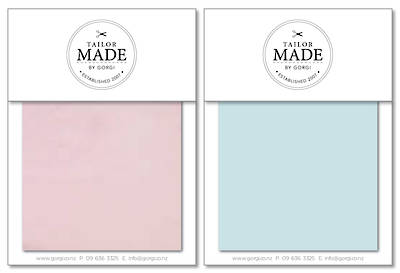 Tailor Made by Gorgi Duvet Cover: Pink/Mint