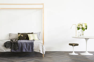 Four Poster Bed by Incy Interiors in Rose Gold - Queen