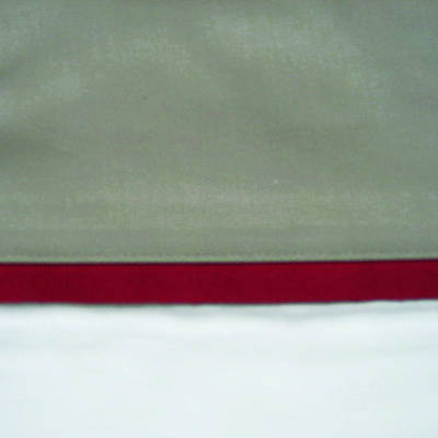 Latte Cuff with Scarlet Gros Grain Cot Flat Sheet