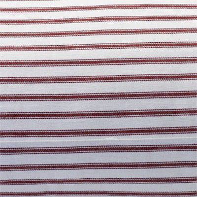 Fabric Swatch Madder Red: White with Scarlet Ticking Stripe