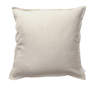 100% Linen Euro Pillowcase in Natural Sand