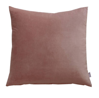 Gorgi Oversized Velvet Cushion in Mushroom with Linen Backing