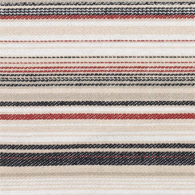 Vintage Retro Dark Navy with Red and Navy French Stripe Duvet Cover ( Full Stripe)