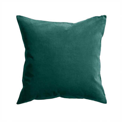 Gorgi Oversized Velvet Cushion in Emerald with Linen Backing