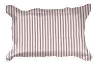 Gorgi Madder Red White with Scarlet Ticking Stripe Oxford Pillowcase