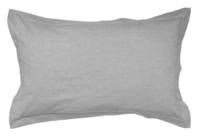 Pair of Gorgi 100% Cotton White with Black Pinstripe Oxford Pillowcases