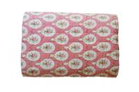 Gorgi French Scarlet Stripe and Flowers 100% Cotton Cot Quilt