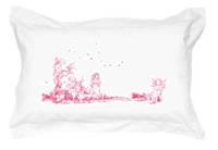 Gorgi 100% White Cotton Oxford Pillowcase with Fairy Print
