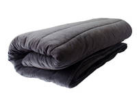 Gorgi Super Soft Velvet Channel Quilted Throw in Charcoal