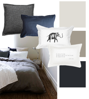 Gorgi Smoke Grey Linen Mood Board