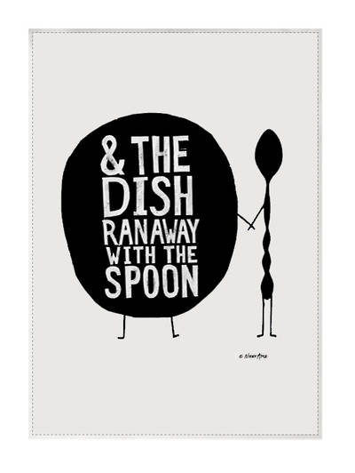 Tea Towel by Artist Nikki Apse: Dish & Spoon