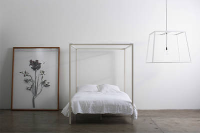 Four Poster Bed by Incy Interiors in Off-White - Queen