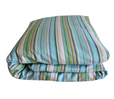 Turquoise and Lime Stripe Cot Duvet Cover
