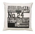 Gorgi In The News Art Cushion by Nikki Apse: Natural Linen