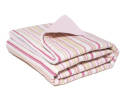 Pink and Lime Full Retro Stripe Duvet Cover Set
