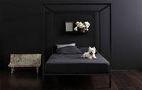 Four Poster Bed by Incy Interiors in Black - King/Super King