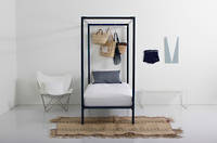 Four Poster Bed by Incy Interiors in Black - Single