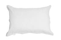 Pair of Gorgi White Linen Cotton Oxford Pillowcases